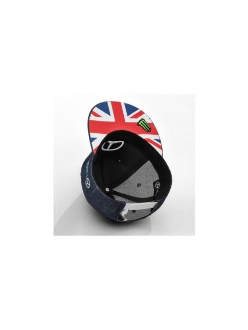 Casquette Lewis Hamilton Bleu Grande Bretagne